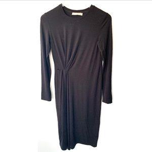 Vince Long Sleeve Jersey Dress Small B128
